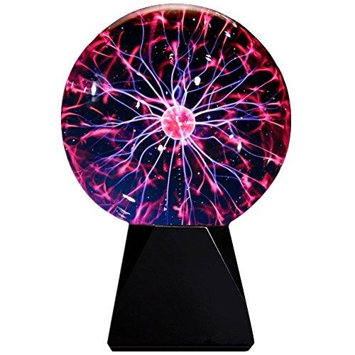 Lebbeen Glass Plasma Ball Sphere Lightning Light Lamp Party magical ball electrostatic flashing ball (5.0 ()