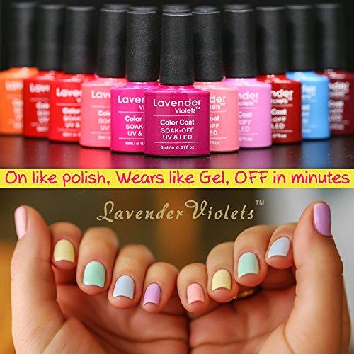 Lavender Violets 20 Pcs Soak Off Gel Nail Polish Uv Led Gel Polish
