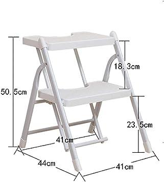 AOLI Escalera plegable compacta, 2 escaleras de mano de 3 escalones Escalera multifunción portátil antideslizante ligera para cocina doméstica-Blanco2 41X57.5X68Cm (16X23X27Inch),white2: Amazon.es: Bricolaje y herramientas