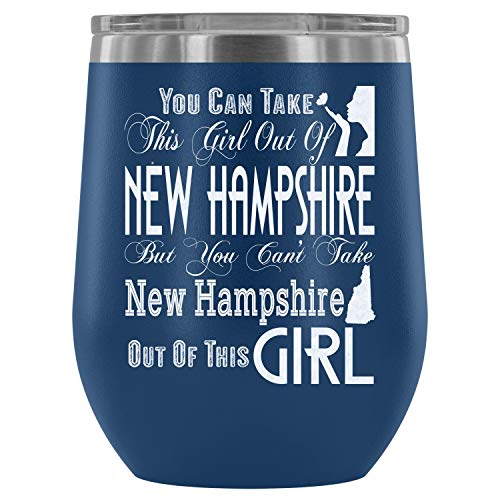 - Christmas-Stainless Steel Tumbler Cup with Lids for Wine, New Hampshire Wine Tumbler, This Girl Out Of New Hampshire Vacuum Insulated Wine Tumbler (Wine Tumbler 12Oz - Blue)