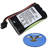 HQRP Cordless Phone Battery compatible with UNIDEN BP904 BT1007 BT1015 BT904 Replacement plus Coaster, Office Central