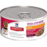 Hill's Science Diet Adult Light Small and Toy Breed Wet Dog Food, 5.8-Ounce Can, 24-Pack