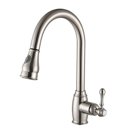 SonTiy Lead Free Kitchen Faucet With Pull Out Sprayer Best Antique ...