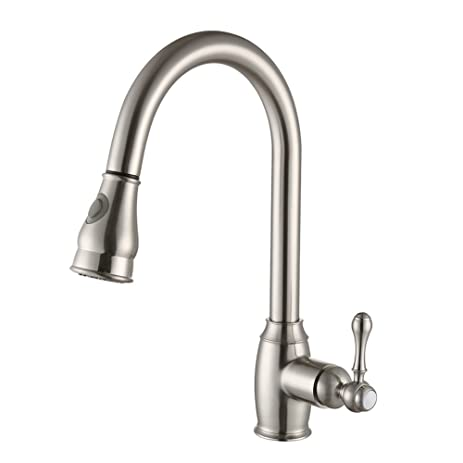 SonTiy Lead Free Kitchen Faucet With Pull Down Sprayer Best ...