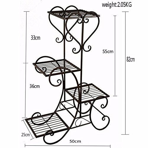 4 tier metal shelves flower pot plant stand display indoor outdoor garden patio buy online in. Black Bedroom Furniture Sets. Home Design Ideas