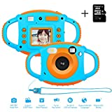 AMKOV AMKPF Kids Digital Camera - Anti-Drop Durable Real Toy Camera with 8G Memory Card for Children, Gift Package