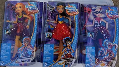 Dolls 3 DC Super Hero Girls Harley Quinn, Wonder Woman, Starfire Masquerade Barbie