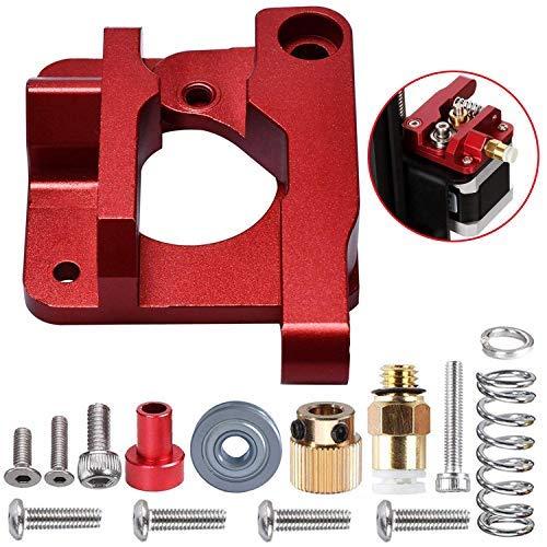 Forrom Aluminium MK8extrudeuse CR-10disque d'alimentation de remplacement de mise à niveau, imprimante 3d Extruders pour Creality CR-10, Cr-10s, CR-10S4, CR-10S5, RepRap Prusa i3, 1.75mm (Rouge) CR-10S4 CR-10S5