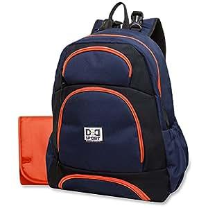 Diaper Dude Sport Backpack Diaper Bag by Chris Pegula - Navy/Black Colorblock