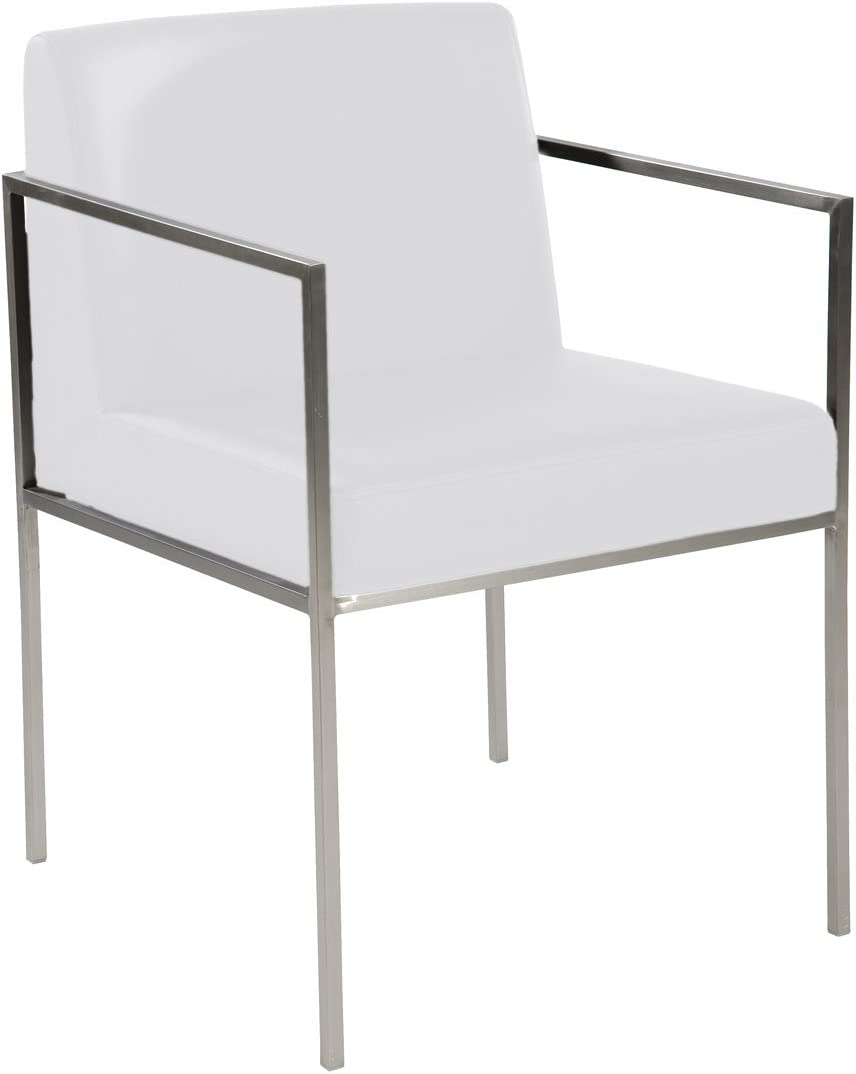 Moe's Home Collection Capo Arm Chair, White, Set of 2
