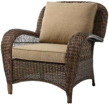 Hampton Bay Beacon Park Stationary Wicker Outdoor Lounge Chair