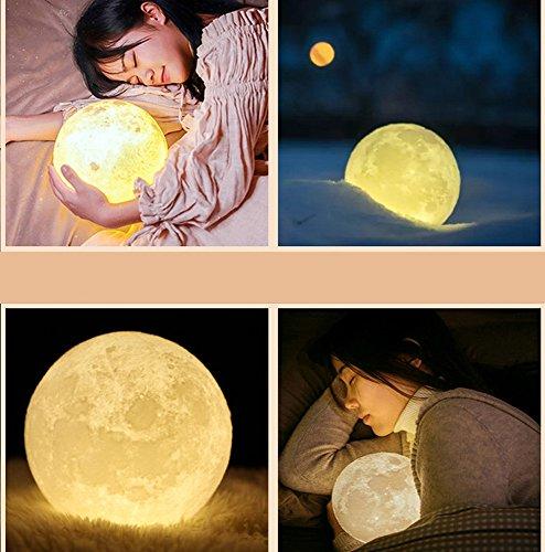 LED Light ,Lavany® 3D USB Moon Night Light Hand Shot Lights Moonlight Table Desk Moon Lamp Gift,Diameter 3.1 Inch (B)