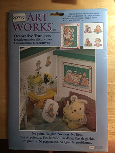 Springs Art Works Decorative Transfers Bunny Bundles No.76682 by Spring Artworks Inc