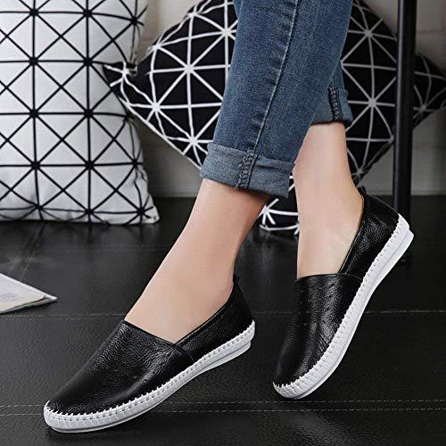 Des De Hhgold 40Blanc Assortissent Mode Chaussures En Les PédalecoloréNoirTaille Cuir Eu Femmes Toutes Paresseuses Respirante UpSVzM