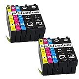 Colour-Store Remanufactured T802 Ink Cartridges for WorkForce Pro WF-4720 WF-4730 WF-4734 WF-4740 Printers (4 Black, 2 Magenta, 2 Cyan, 2 Yellow 10PK)