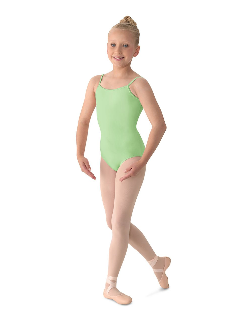 Mirella Girl's Classic V-Back Camisole Dance Leotard,Seafoam,12 by Mirella