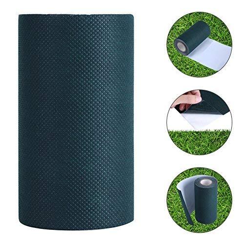 Cinta Adhesiva para Césped Artificial, 5mx15cm Césped Artificial Cinta Verde para Césped Cinta para Césped Autoadhesiva...