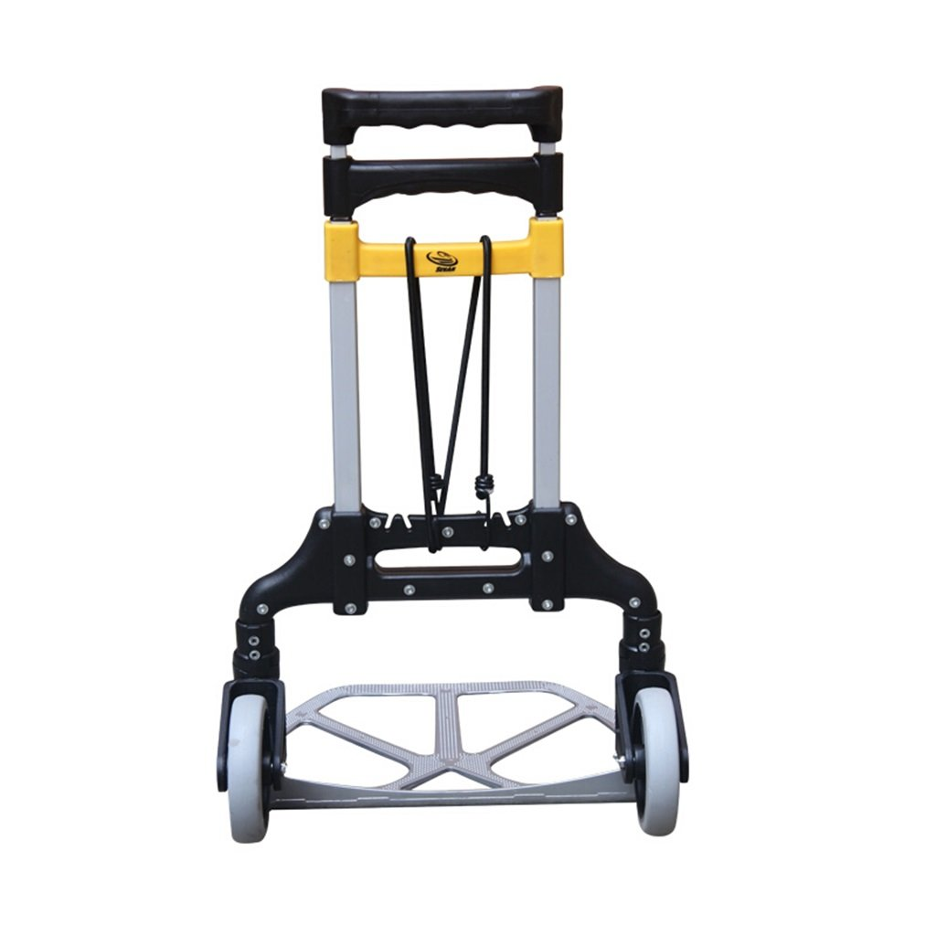 Jian E 2 Rounds of Reinforcement Luggage Cart Hand Truck Aluminum Alloy Telescopic Folding Trolley Industry Pull Rod Van Load 70 Kg