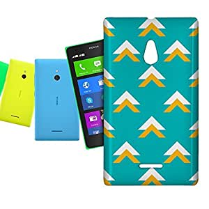 Phone Case For Nokia XL Dual Sim - Geometric Abstract Triangles Teal Snap-On Slim