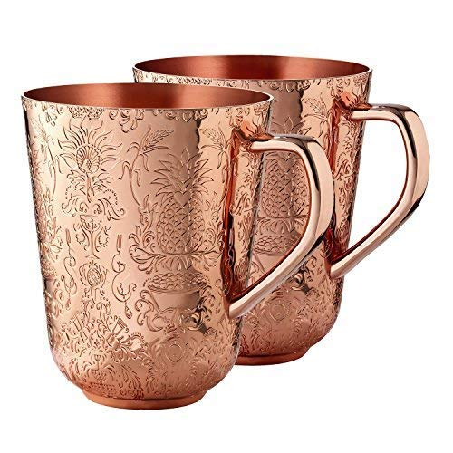 Elyx Boutique Copper Mule Cups Gift Set (set of 2) | Attach Heritage and Tradition to Your Classic Cocktail | Perfect Gift by Elyx Boutique