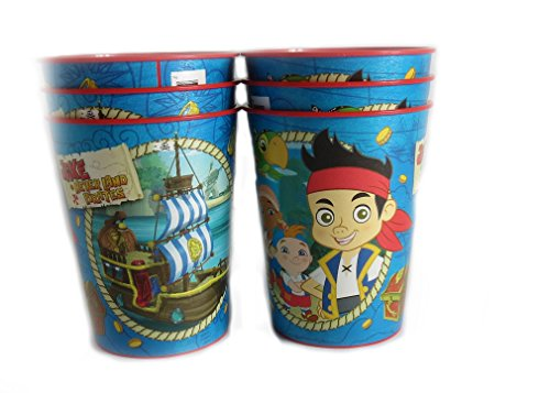 6 Disney Pixar Reusable Treat Favor Party Cups (Jake Never Land Pirates) ()