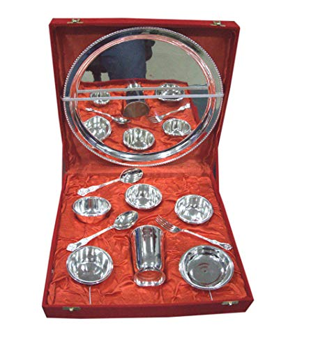 (Indian Accent Silver Plated Best Quality Bhoojan Thali)