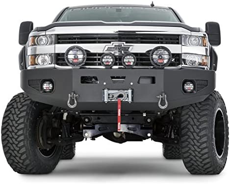 3500 Fits: Chevy Silverado HD 2500 2015-2019 WARN 93472 Heavy Duty Front Bumper without Grille Guard Tube