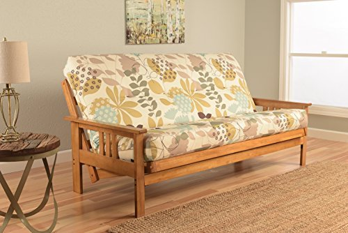 Kodiak Furniture KFMOBTENGGDLF5MD3 Monterey Futon Set with Butternut Finish, Full, English Garden from Kodiak Furniture