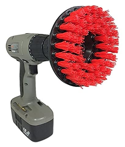 The Beast Brush - Power Scrubbing Brush Drill Attachment for Cleaning Showers, Tubs, Bathrooms, Tile, Grout, Carpet, Tires, Boats - Carpet Cleaning Brush Tool