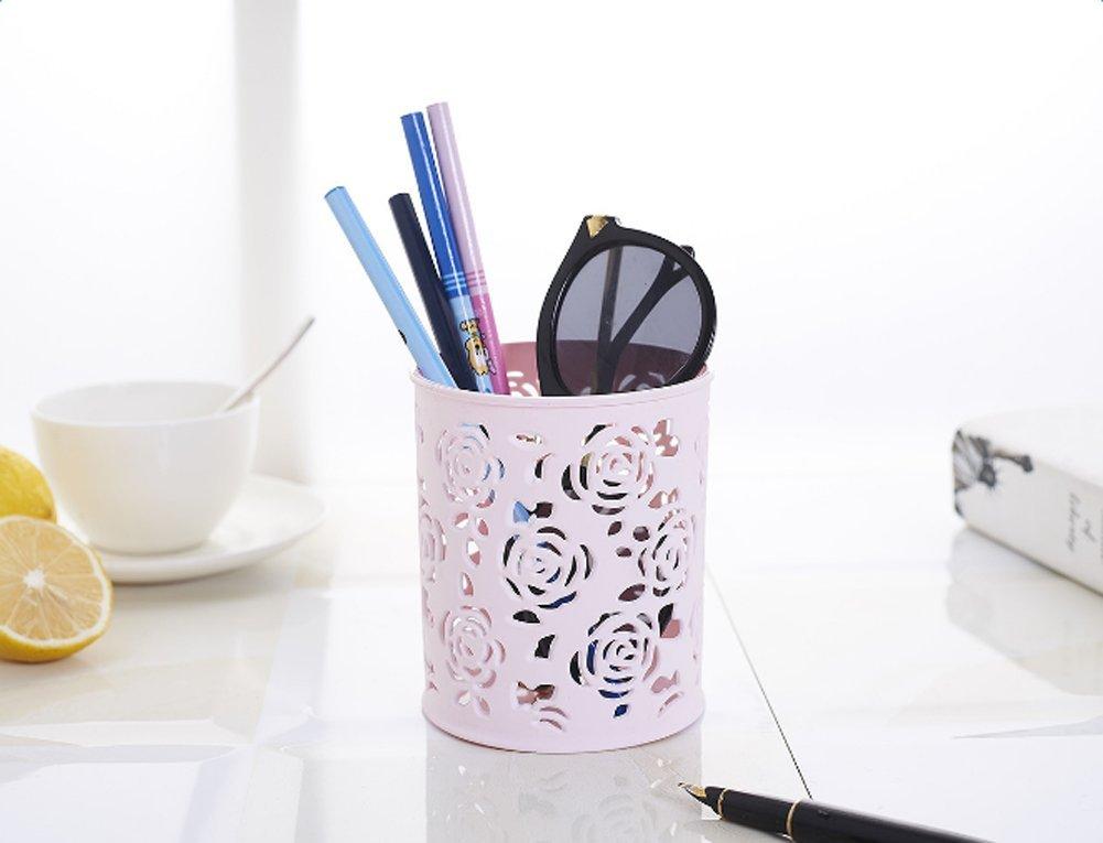 porta penne Lubier matite e accessori di forma cilindrica da scrivania Beige
