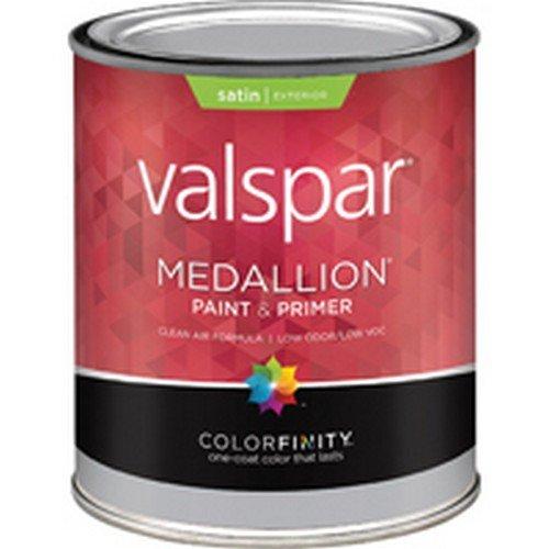(Medallion 27-4108 QT 1 Qt Satin Pastel Base Medallion Exterior Latex House Paint)