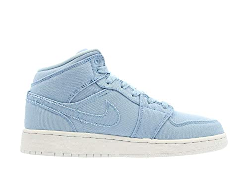 premium selection 86432 60dc6 Jordan Kids AIR 1 MID BG ICE Blue White Size 6.5