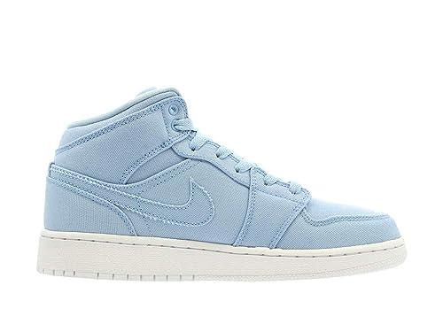 premium selection dc1f8 9dcfc Jordan Kids AIR 1 MID BG ICE Blue White Size 6.5