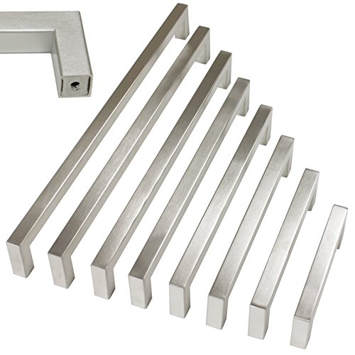 5 pack Probrico 1/2 in Stainless Steel Square Corner Bar Kitchen Cabinet (5 Square Corner)