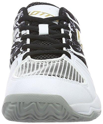 Lotto Esosphere Alr W, Zapatillas de Tenis Para Mujer Negro / Amarillo (Blk / Gld Str)