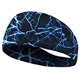 NINGDER Mens Headband,Sports Sweatband for Running,Crossfit,Basketball,Workout,Guys Moisture Wicking Hair Bands,Cooling Headwear Bike Helmet Friendly
