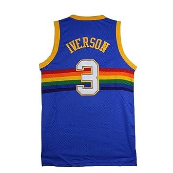 info for be7b3 62827 Mens Iverson Jersey Denver 3 Adult Allen Basketball