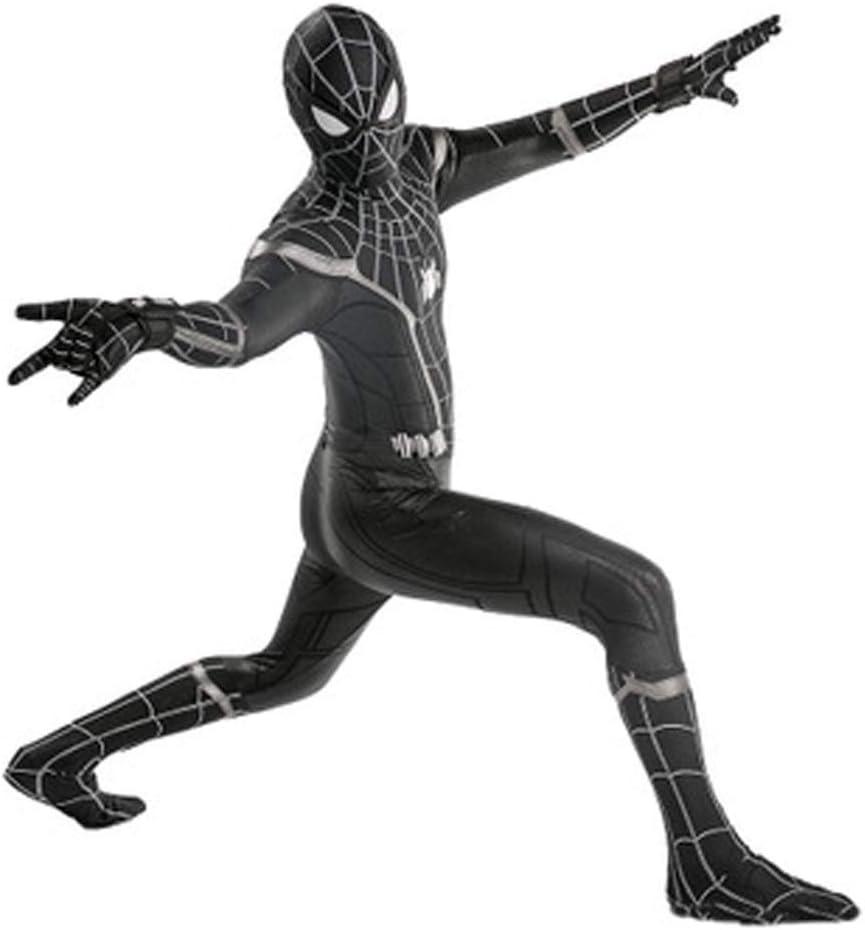 HYYSH Spiderman Negro Cosplay Medias Adultas Escudo de araña Traje ...