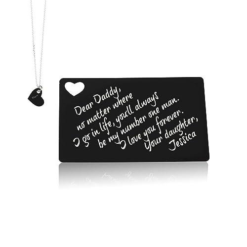 Amazon.com: Personalizado cartera tarjeta con inicial Collar ...