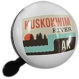 Small Bike Bell USA Rivers Kuskokwim River - Alaska - NEONBLOND