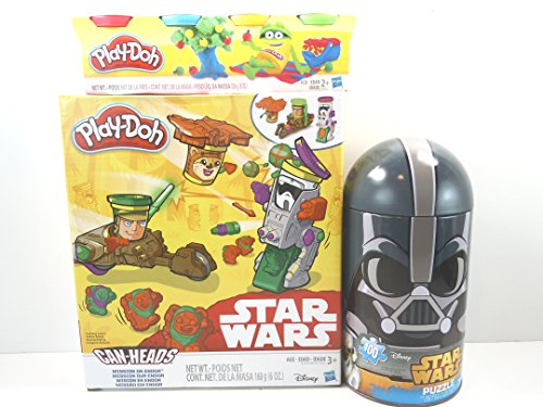 (Play-Doh Star Wars Can Heads Mission on Endor, Mini 4-Pack,and 100 Piece Star Wars Darth Vader Puzzle in a Collectible Tin 3 pc. Bundle.)