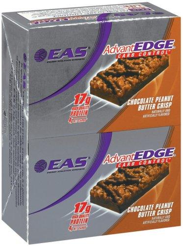 EAS AdvantEdge Carb Control Nutrition Bar, Chocolate Peanut Butter Crisp, Pack of 12