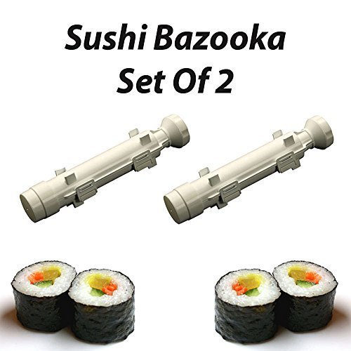 The Sushi Bazooka - Gourmet Sushi Shape Tube Maker Kitchen Tool (Set of 2)