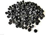 USA Premium Store Lot of 100 Rubber Grommets 1/8'' Inside Diameter- Fits 1/4'' Panel Holes