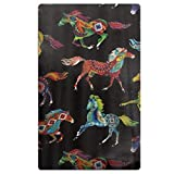 LOIOI67 Out West Southwest Horses Microfiber Quick Dry Beach Towel Bath Towel Pool Towel Perfect for Boys Girls