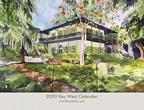 2020 Key West Wall Calendar - Hemingway House, Blue Heaven, Sloppy Joe's, etc.Florida Keys - Key West Watercolor Wall Calendar by Brenda Ann (Key West Heaven Blue)