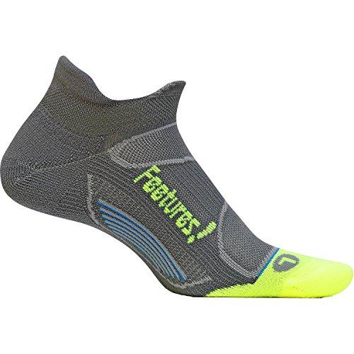 Feetures! Elite Light Cushion No Show Tab Sock - Graphite/Reflector Medium