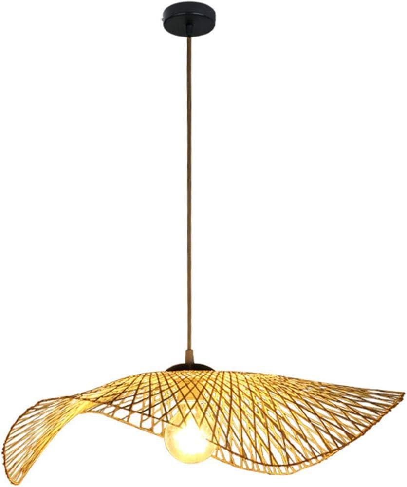 JOSN DIY Hecho a Mano de bambú lámpara de Mimbre Tropical Rota Tejida Cortina de bambú Restaurante araña araña de Arte de la Barra de café decoración del hogar