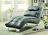 Coaster 550029 Home Furnishings Chaise, Grey