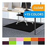 casa pura Office Chair Mats for Carpeted Floors - 36''x48'' | Carpet Protector Floor Mat, Black - BPA Free, Odorless | Matching Desk Mats Available